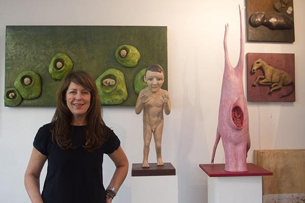 Judith Modrak in her studio